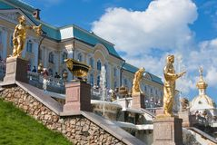 Grand cascade in Pertergof,  Russia. Stock Photography