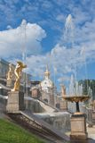 Grand cascade in Pertergof,  Russia. Royalty Free Stock Image