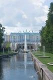 Grand cascade in Pertergof, Russia. Stock Photography