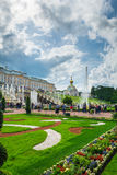 Grand cascade in Pertergof, Saint-Petersburg, Russia Royalty Free Stock Images