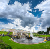 Grand cascade in Pertergof, Saint-Petersburg, Russia Royalty Free Stock Photography