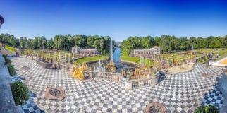 Grand cascade in Pertergof, Saint-Petersburg, Russia. Royalty Free Stock Images