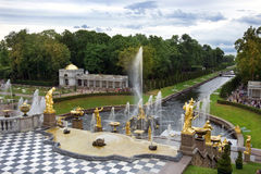 Grand cascade in Pertergof, Saint-Petersburg Royalty Free Stock Images