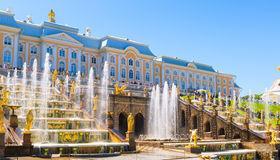 Grand Cascade in Perterhof Palace, Saint Petersburg Royalty Free Stock Image