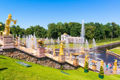 Grand Cascade in Peterhof Palace, Saint Petersburg Royalty Free Stock Images