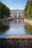 Grand cascade in Petergof Stock Photos
