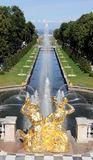 Grand Cascade in Peterhof Royalty Free Stock Photos