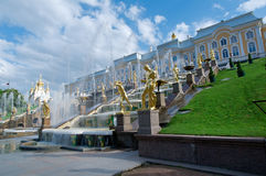 Grand cascade .Peterhof Palace Royalty Free Stock Photography