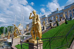 Grand cascade .Peterhof Palace Royalty Free Stock Photos