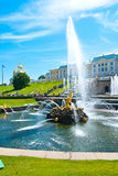 Grand Cascade in Peterhof Park Royalty Free Stock Images