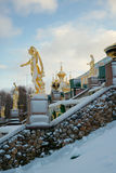 Grand Cascade in Peterhof, Russia Royalty Free Stock Photography