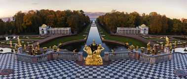 Grand Cascade in Peterhof, St Petersburg. This is image of the Grand Cascade in Peterhof, St Petersburg royalty free stock images