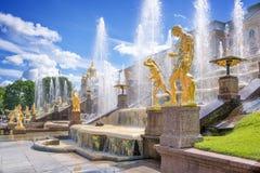 Grand Cascade in Peterhof. St Petersburg Stock Image