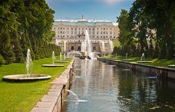 Grand Cascade in Peterhof, St Petersburg, Russia Stock Photography