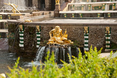 Grand Cascade in Peterhof, St Petersburg, Russia Stock Photos