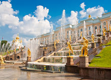 Grand Cascade in Peterhof, St Petersburg, Russia Royalty Free Stock Photo