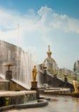 Grand Cascade in Peterhof, St Petersburg, Russia Stock Photos