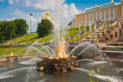 Grand Cascade in Peterhof, St Petersburg, Russia Royalty Free Stock Image