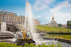 Grand Cascade in Peterhof, St Petersburg, Russia Royalty Free Stock Photography