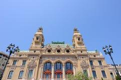 Grand casino. Back of the grand casino in monte carlo, monaco stock image