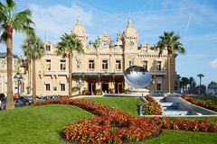 Grand Casino building and garden in summer afternoon in Monaco Stock Images