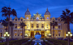 The grand casino in Monaco at night Royalty Free Stock Photography