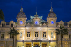 The grand casino in Monaco at night Stock Images