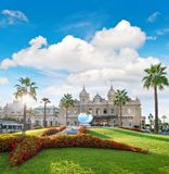 Casino Monte Carlo cloudy blue sky landmark of Monaco. Grand Casino in Monte Carlo with cloudy blue sky, landmark of Monaco. French riviera, Mediterranean Sea Royalty Free Stock Photos