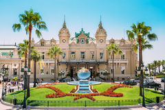 Grand casino in Monte Carlo in Monaco. Royalty Free Stock Photo