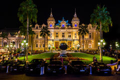 The grand Casino Monte - Carlo at night. Monaco Royalty Free Stock Photography