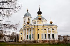 The Grand Cathedral of The Dormition in Myshkin. Stock Photo