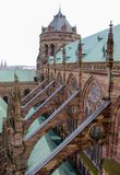 Grand Strasbourg Cathedral. The Grand Cathedral of Strasbourg Germany with its Flying Buttresses Royalty Free Stock Photo