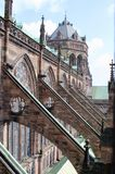 Grand Strasbourg Cathedral. The Grand Cathedral of Strasbourg Germany with its Flying Buttresses Royalty Free Stock Photos