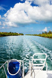 Grand Cayman boat ride Royalty Free Stock Photography