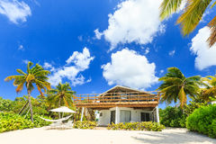 Grand Cayman, Cayman Islands. Beach house at the 7 mile beach, Grand Cayman royalty free stock images