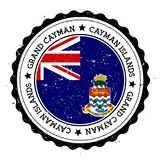 Grand Cayman flag badge. Stock Images
