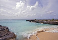 Grand Cayman Island Beach Waves Stock Photography