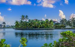 Grand Cayman storslagen hamn arkivfoto