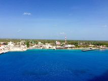 Grand Cayman. View of Grand Cayman from cruise ship