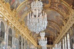 Grand Ceiling and Chandeliers Royalty Free Stock Images