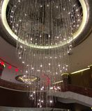 Grand ceiling crystal light fantasy royalty free stock photos