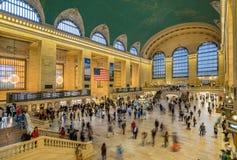 Grand Central ändstation i New York City Arkivbild