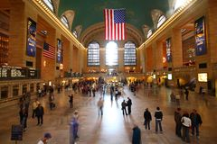 Grand central. Station in new york city during rush hour Royalty Free Stock Photography