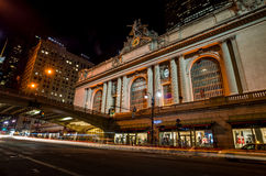 Grand Central along 42nd Street at night Royalty Free Stock Photography