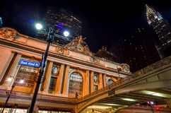 Grand Central along 42nd Street at night Stock Image
