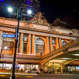 Grand Central along 42nd Street at night Royalty Free Stock Photo
