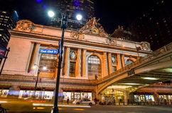 Grand Central along 42nd Street at night Stock Photos