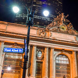 Grand Central along 42nd Street at night Stock Photography