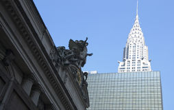 Grand Central and Chrysler Building in New York City Royalty Free Stock Images