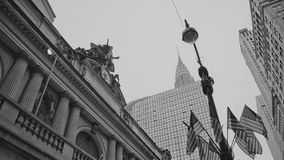 Grand central terminal and Chrysler building NYC  Royalty Free Stock Photos